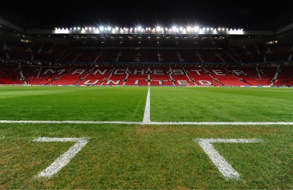 Manchester United On Reise Old Trafford Fotballspillere