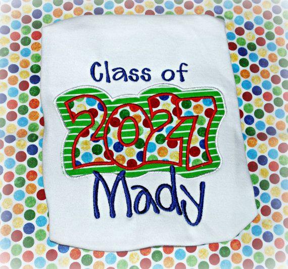 Custom Embroidered Shirt First Day Of School Kindergarten 1st 2nd