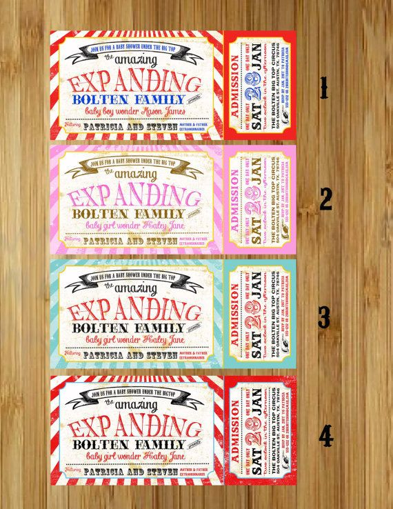 Anticipate Lil Ones Arrival With These 11 Baby Shower Invites – Circus Party Invites
