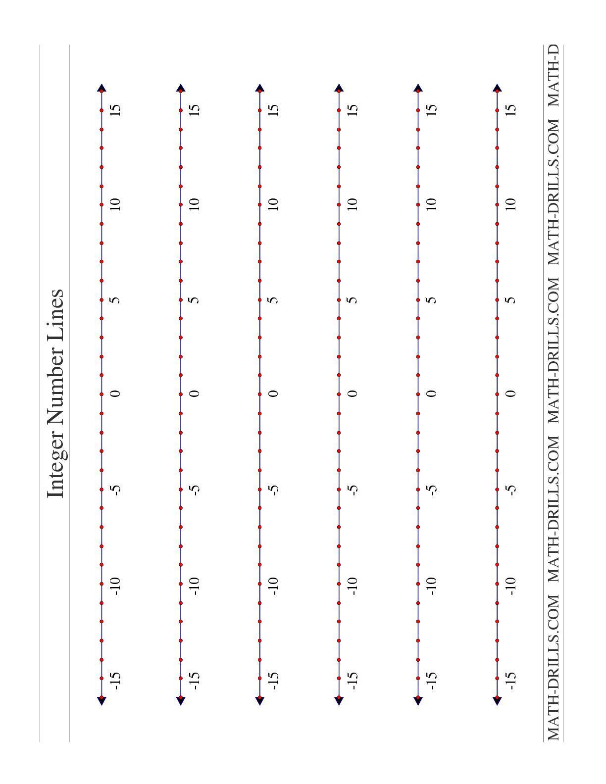 Positive And Negative Integer Worksheets