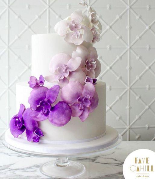 Wedding Cakes 4 02222017 Km Modwedding Wedding Cake Inspiration Orchid Cake Cake