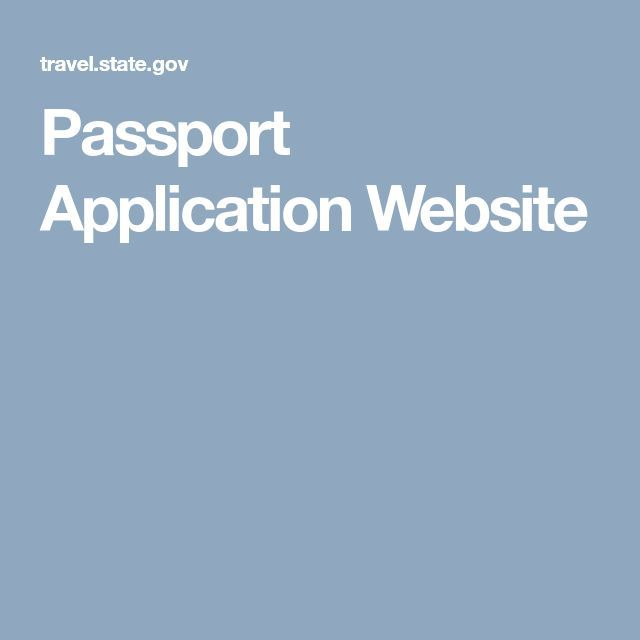 Passport Application Website in 2019 Passport