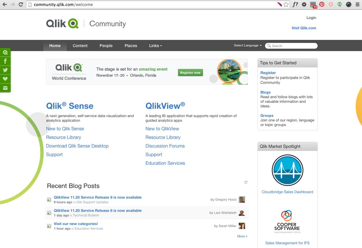 Qlik community - Jive  community healthstream com | Online