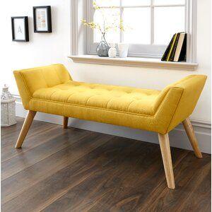 Hashtag Home Cauley Upholstered Bench Wayfair Co Uk In 2020 Upholstered Bench Living Room Bench Upholstered Storage Bench