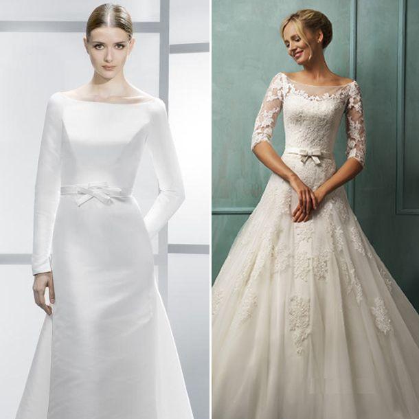 vestido de novia cuello bandeja viaboda | kinc | pinterest