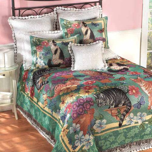 Garden Cats Tapestry Bedding