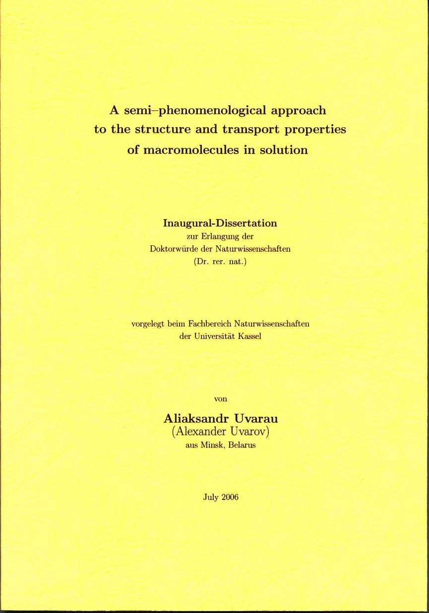 Abstract of thesis phd