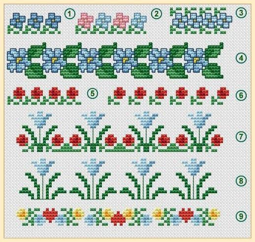 Free Online Cross Stitch Border Patterns Borders Pinterest