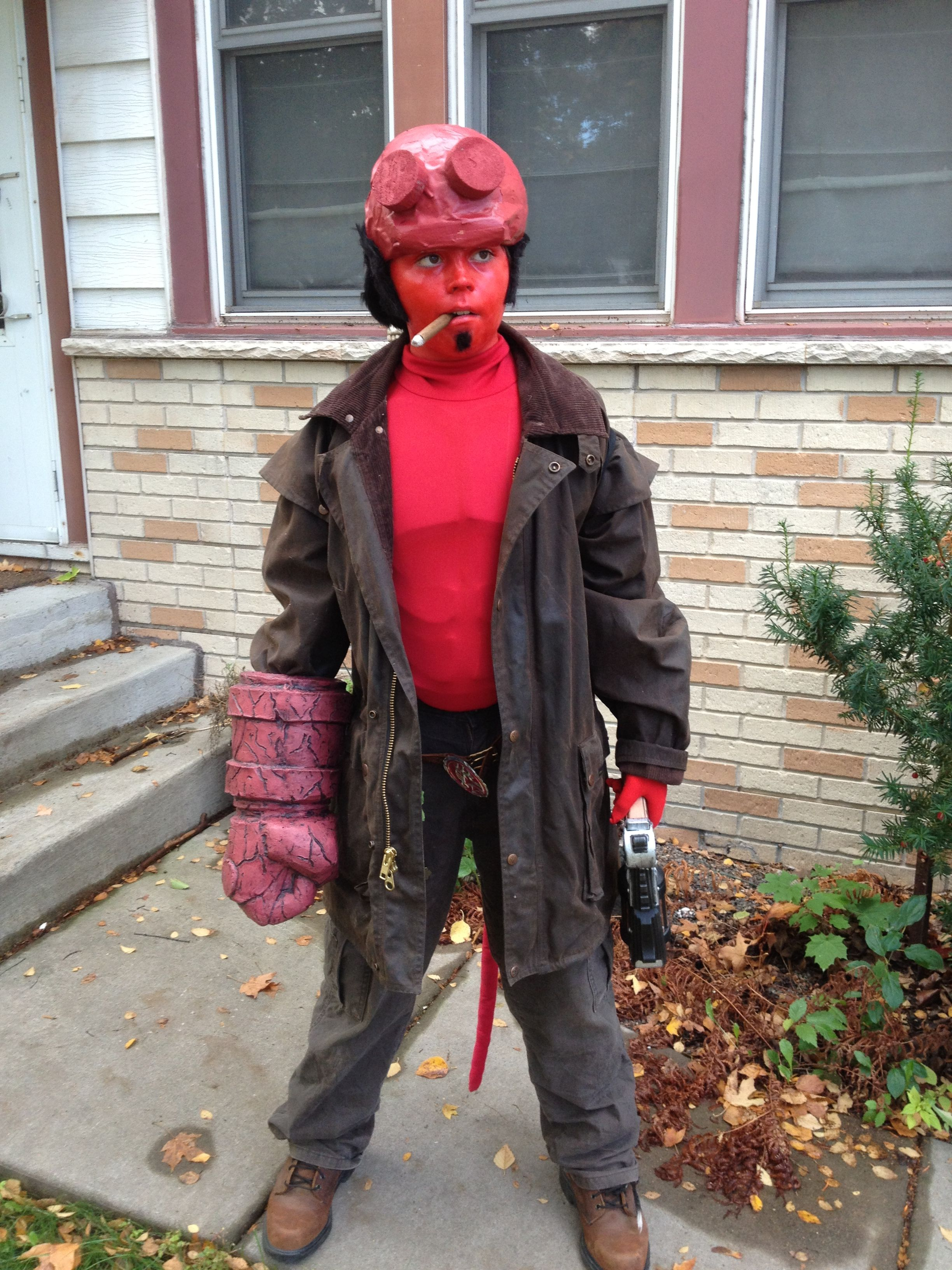 hellboy costume comiccon brown banana productions