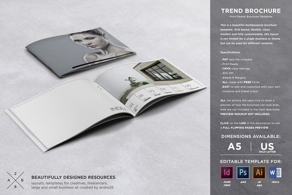 Trend Brochure Template by Andre28 on @creativemarket Professional