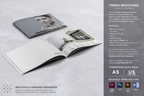 Trend Brochure Template | Brochure template, Mockup and Brochures