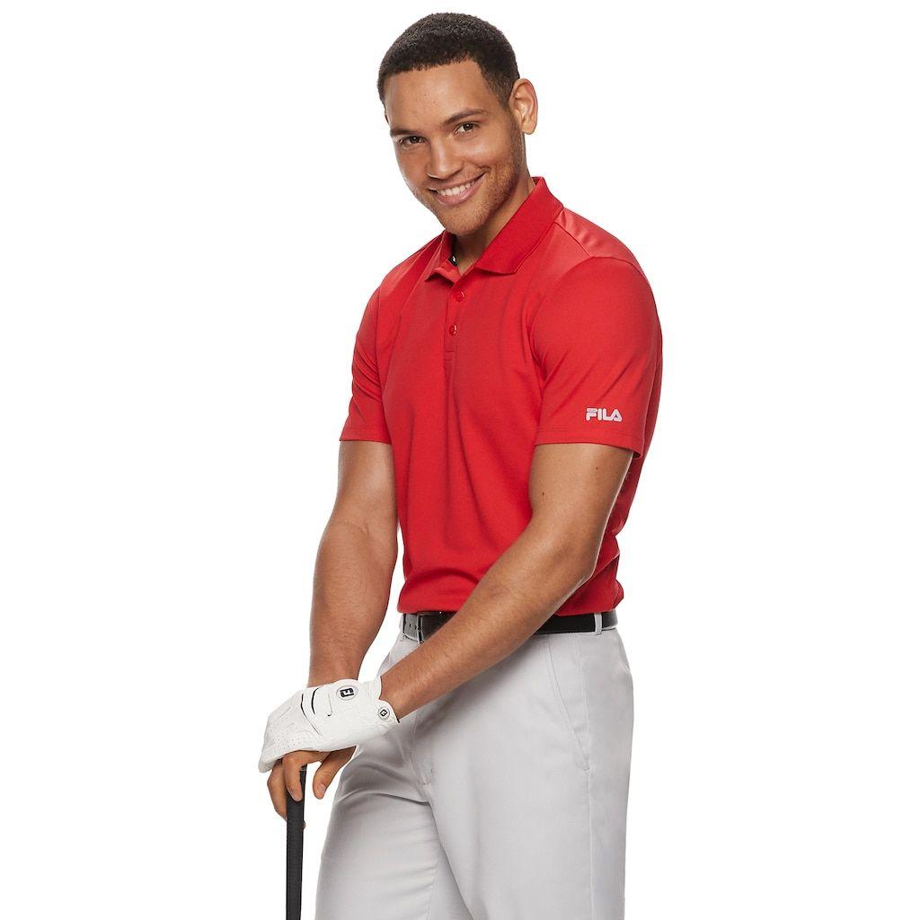 1f09890e1321a Men's FILA Sport Golf® Regular-Fit Pro Core Pique Performance Polo, Size:  XL, Med Red