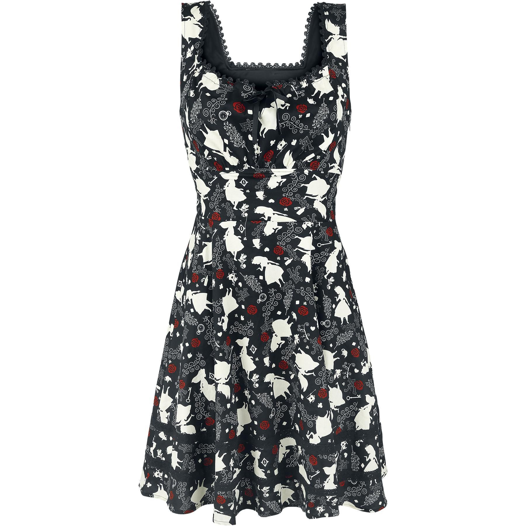 Black Curiouser - Robe courte par Alice In Wonderland