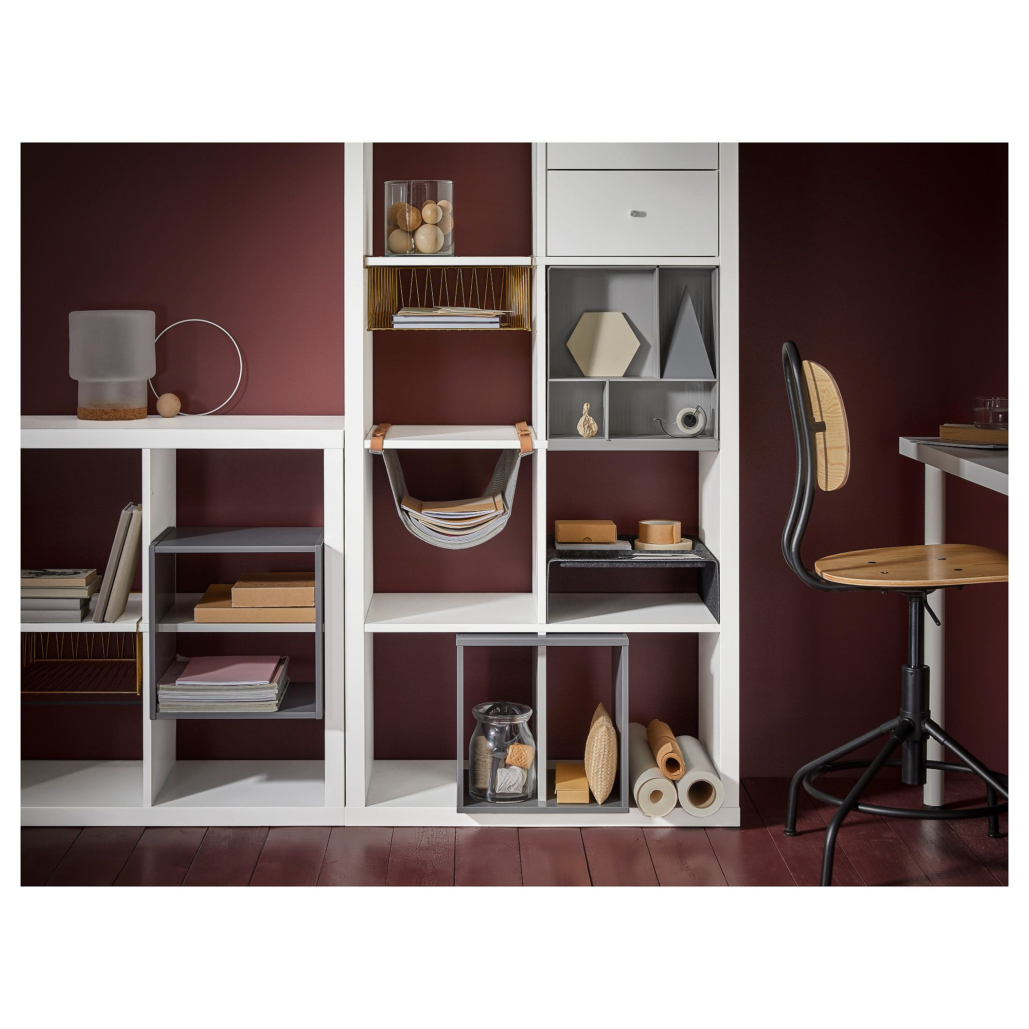 Kallax Storage With Compartments Dark Grey Etagere Kallax  # Customiser Tiroirs Et Portes Kallax