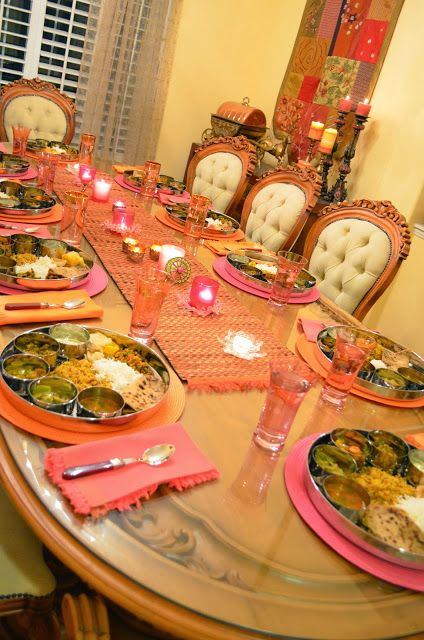 Traditional Thali Tablescape For Diwali Dinner Table Setting Table Setting Decor Dinner Table Decor