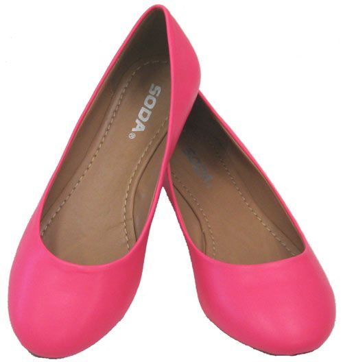 8fe8845861 Scout Hot Pink Neon Vegan Ballerina Flats Can I have one in every color  please? $32