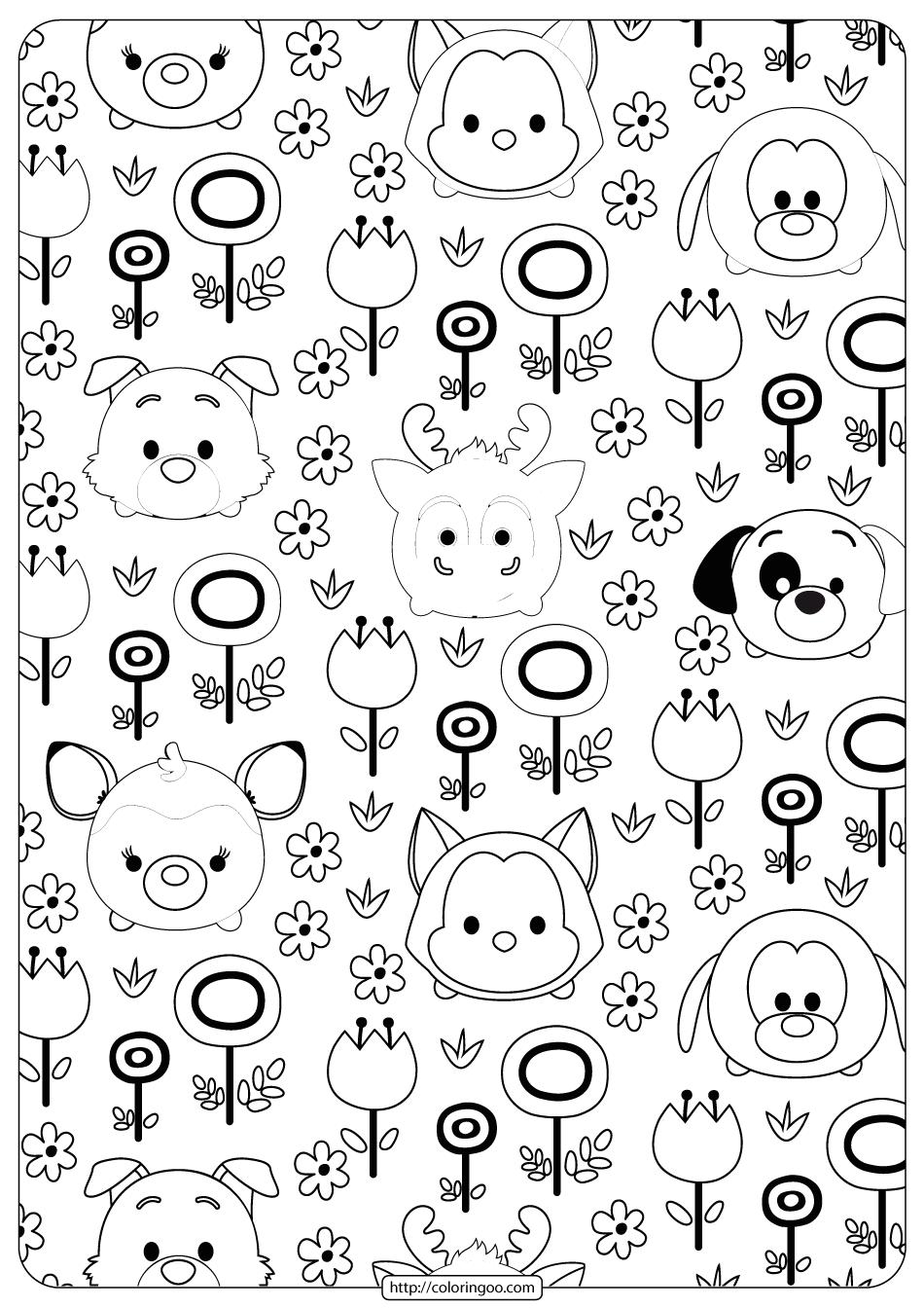 Disney Tsum Tsum Garden Coloring Pages Garden Coloring Pages Tsum Tsum Coloring Pages Coloring Pages