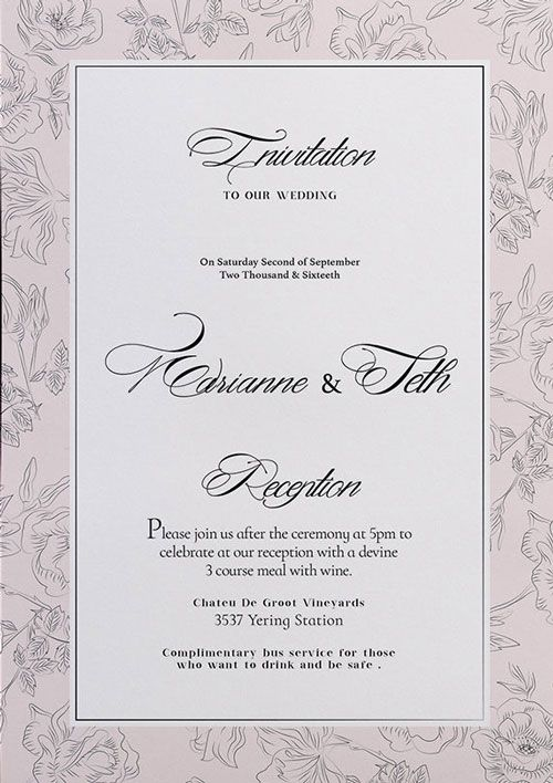 Free Wedding Flyer Template - http\/\/freepsdflyer\/free-wedding - wedding flyer