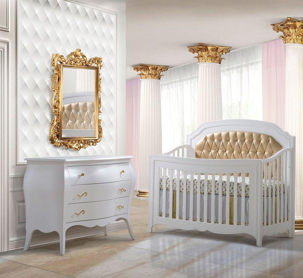 Natart Allegra Gold Collection 2 Piece Nursery Set Crib