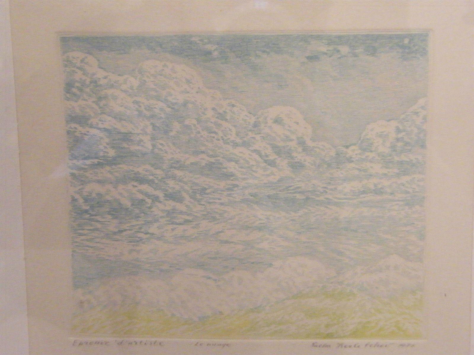 Eau Forte Le Nuage par Sacha Koulitchov épreuve d\'artiste | eBay ...