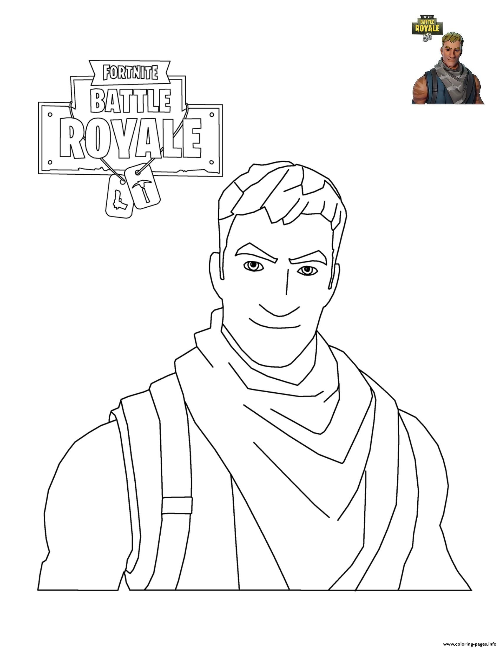 Print Fortnite Character 3 Coloring Pages