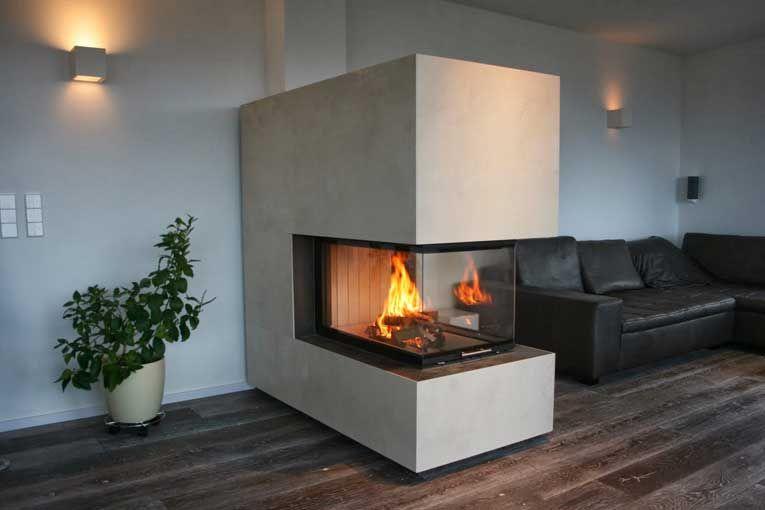 Heizkamin Dreiseitig #firplace #modern #architectural #kamin  Www.schoenbacher.com