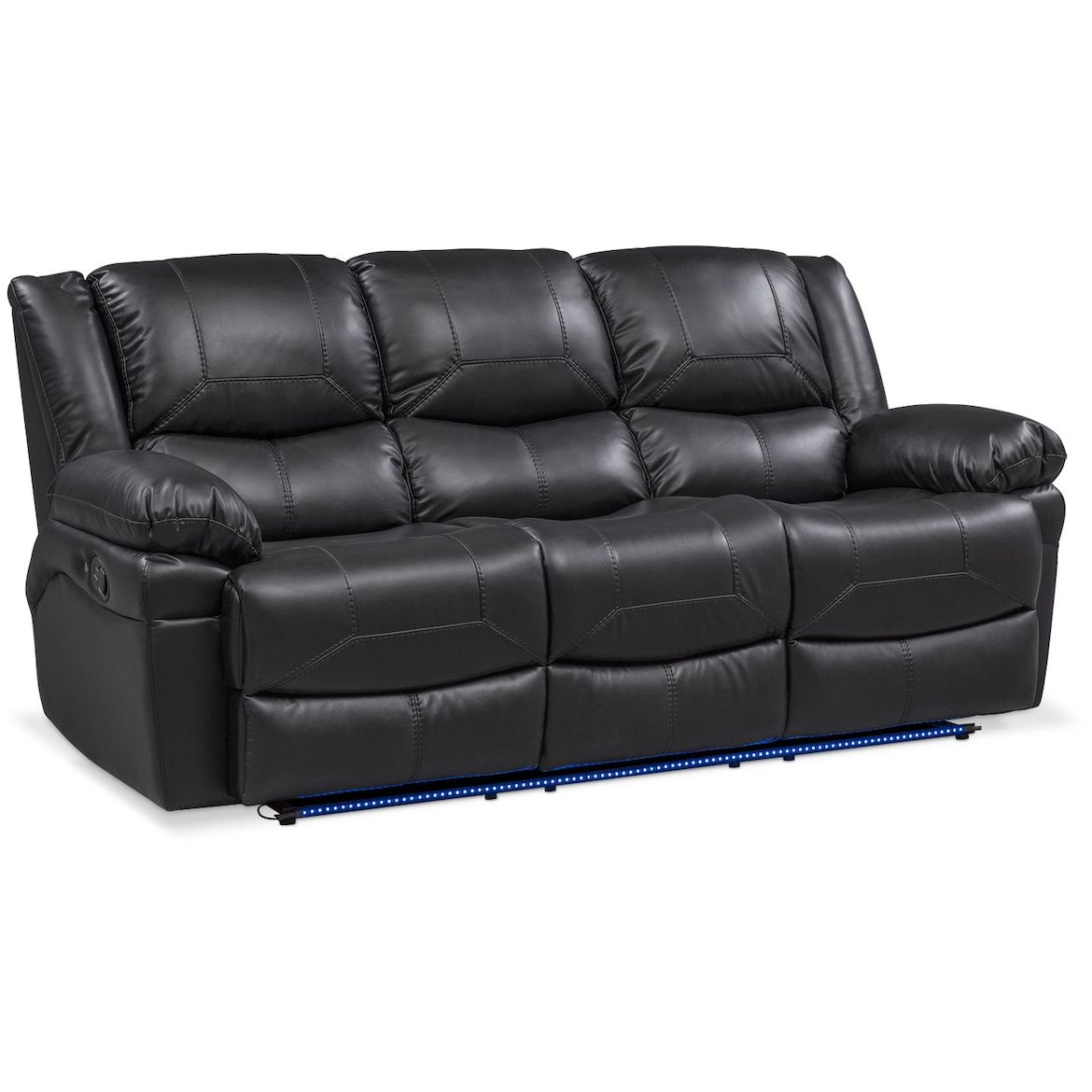 Monza Manual Reclining Sofa Black In 2019 Our Place