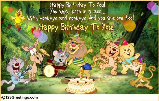 A Wild Birthday Song Birthday Songs Birthday Wishes Funny Birthday Songs Video