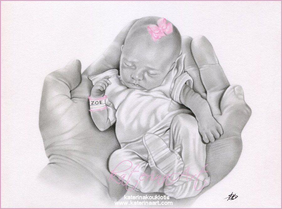Life in your Hands by *Katerinaartkoukiotis   Baby drawing ...