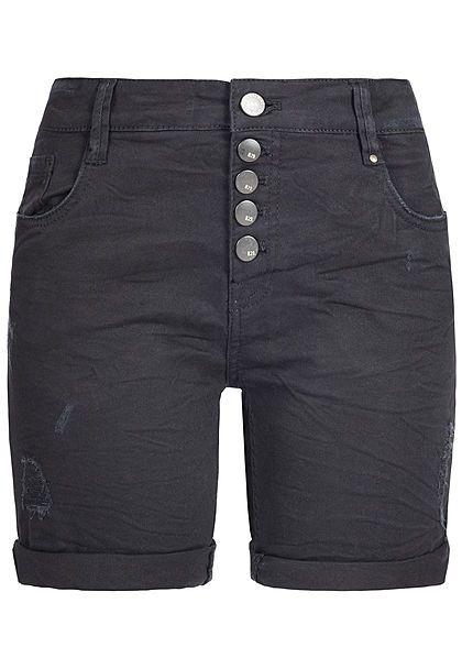 20390dc923153a Eight2Nine Damen Jeans Shorts Destroy Look 5-Pockets schwarz denim -  77onlineshop