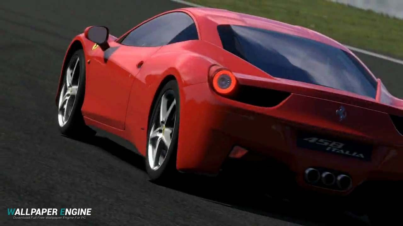 Lovely Gran Turismo Red Ferrari 458 Italia Wallpaper Engine Free