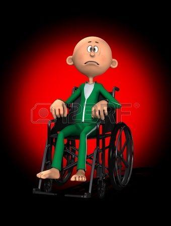 Un Hombre De Dibujos Animados Discapacitados En Silla De Ruedas Silla De Ruedas Dibujos Animados Dibujos