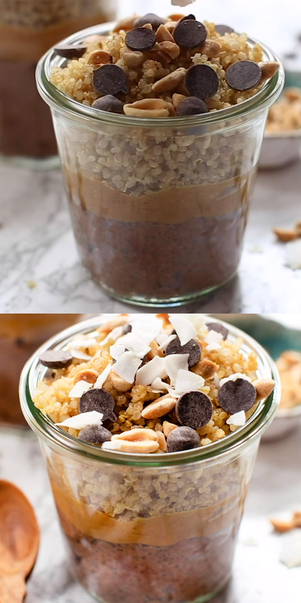 Photo of Chocolate Peanut Butter Quinoa Breakfast Parfait