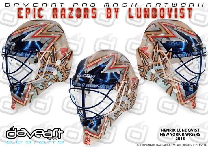 Picture Henrik Lundqvist S New Mask Is For The Heritage Jerseys