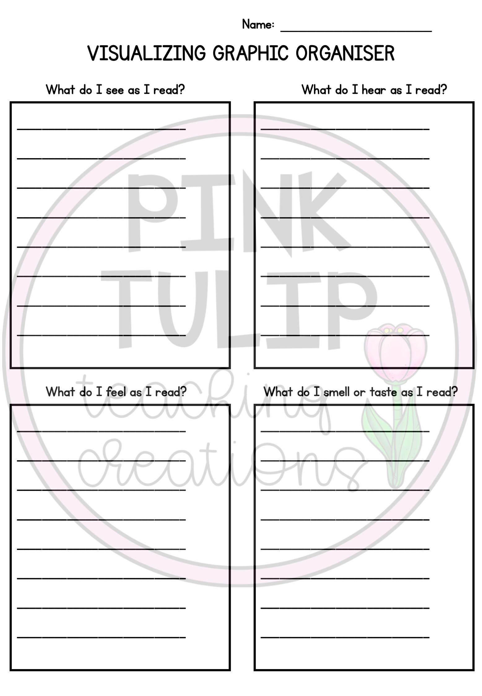 Graphic Organizer Package For Reading Strategies Reading Comprehension Resources Reading Strategies Teaching Primary School [ 2249 x 1557 Pixel ]