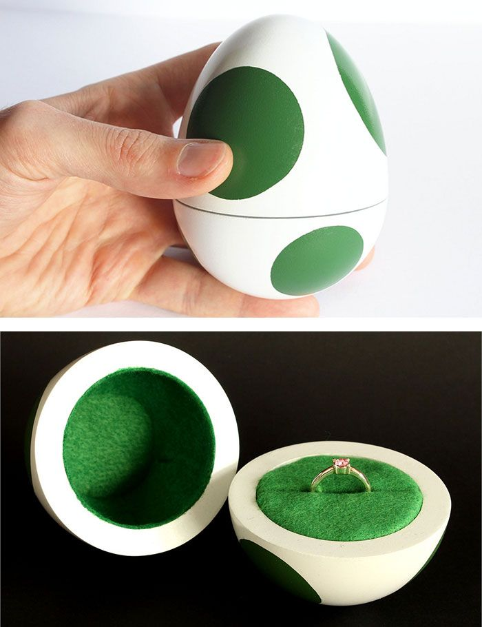 937a158a04 Super Mario Egg Box. Super Mario Egg Box Engagement Box, Nerdy Engagement  Rings ...