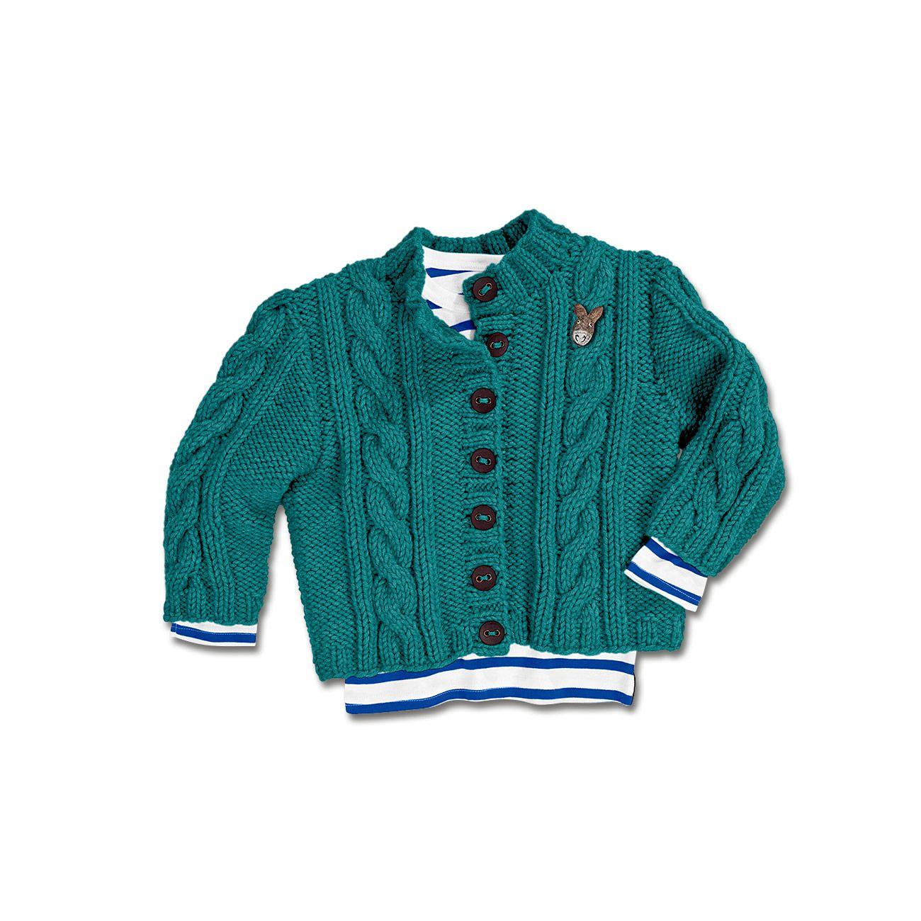 Modell 060/5, Kinderjacke aus Merino Dick von Junghans-Wolle