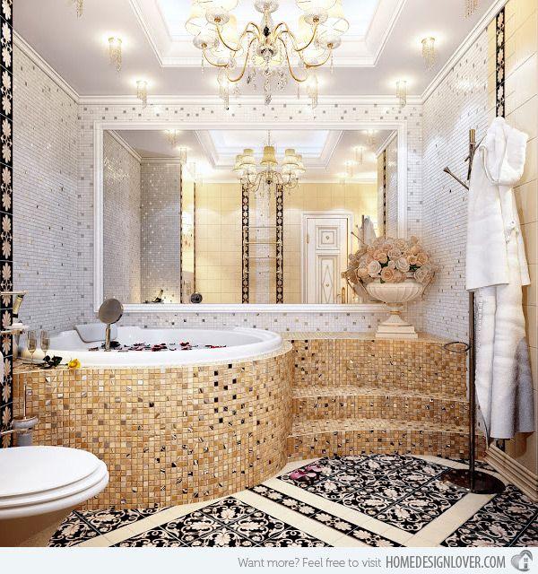 High Quality 16 Unique Mosaic Tiled Bathrooms