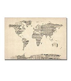 Michael tompsett old sheet music world map canvas art artwork michael tompsett old sheet music world map canvas art gumiabroncs Choice Image
