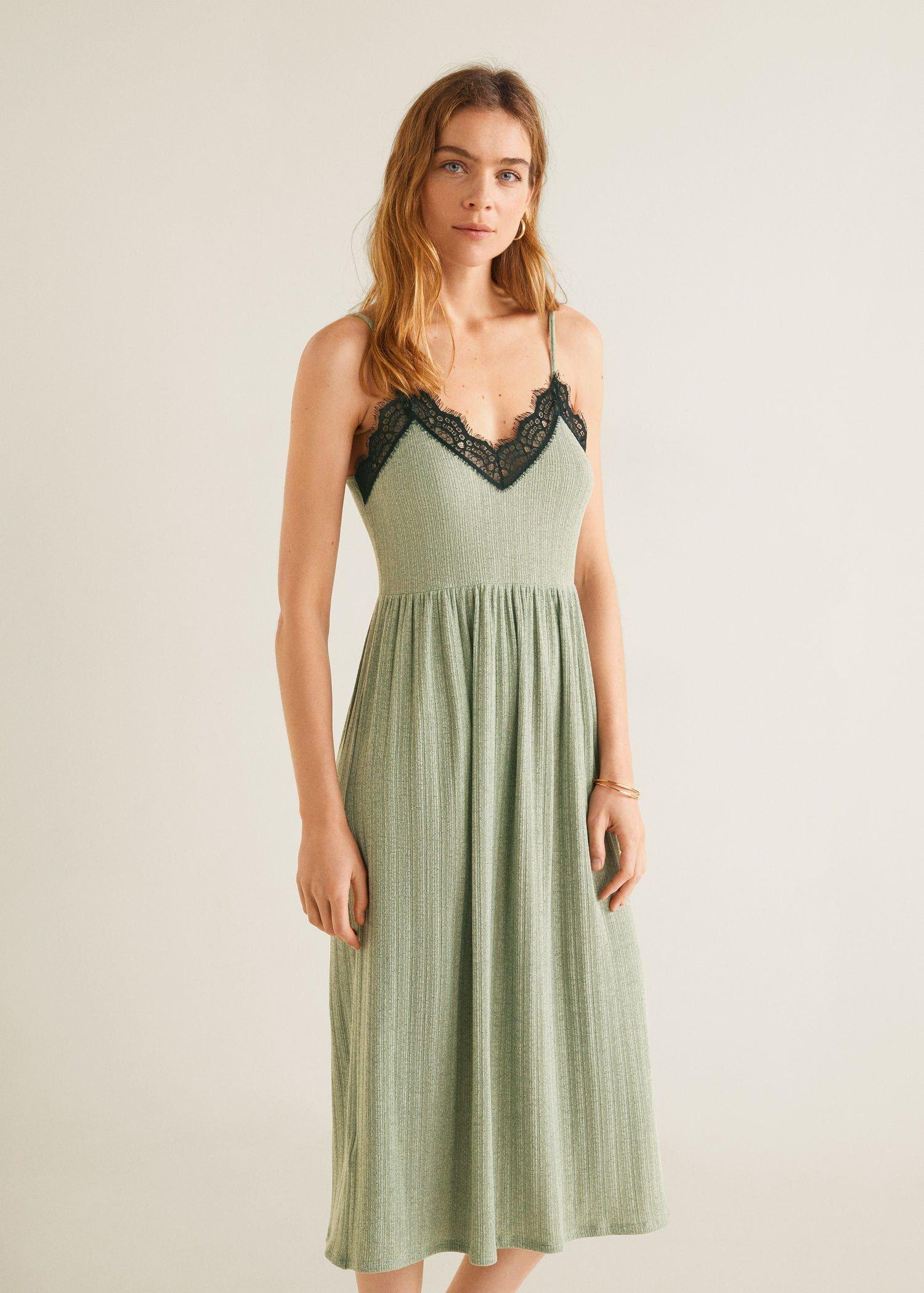 1ccf2b4ce8b5 Ribbad klänning spets - Damer i 2019 | Kläder | Lace Dress, Dresses ...
