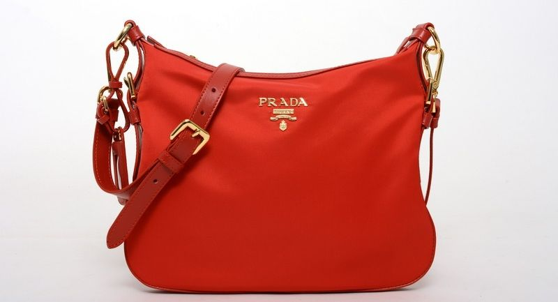 PRADA NYLON SLING BAG RED ROSSO W  CARD  a9d804748ea27