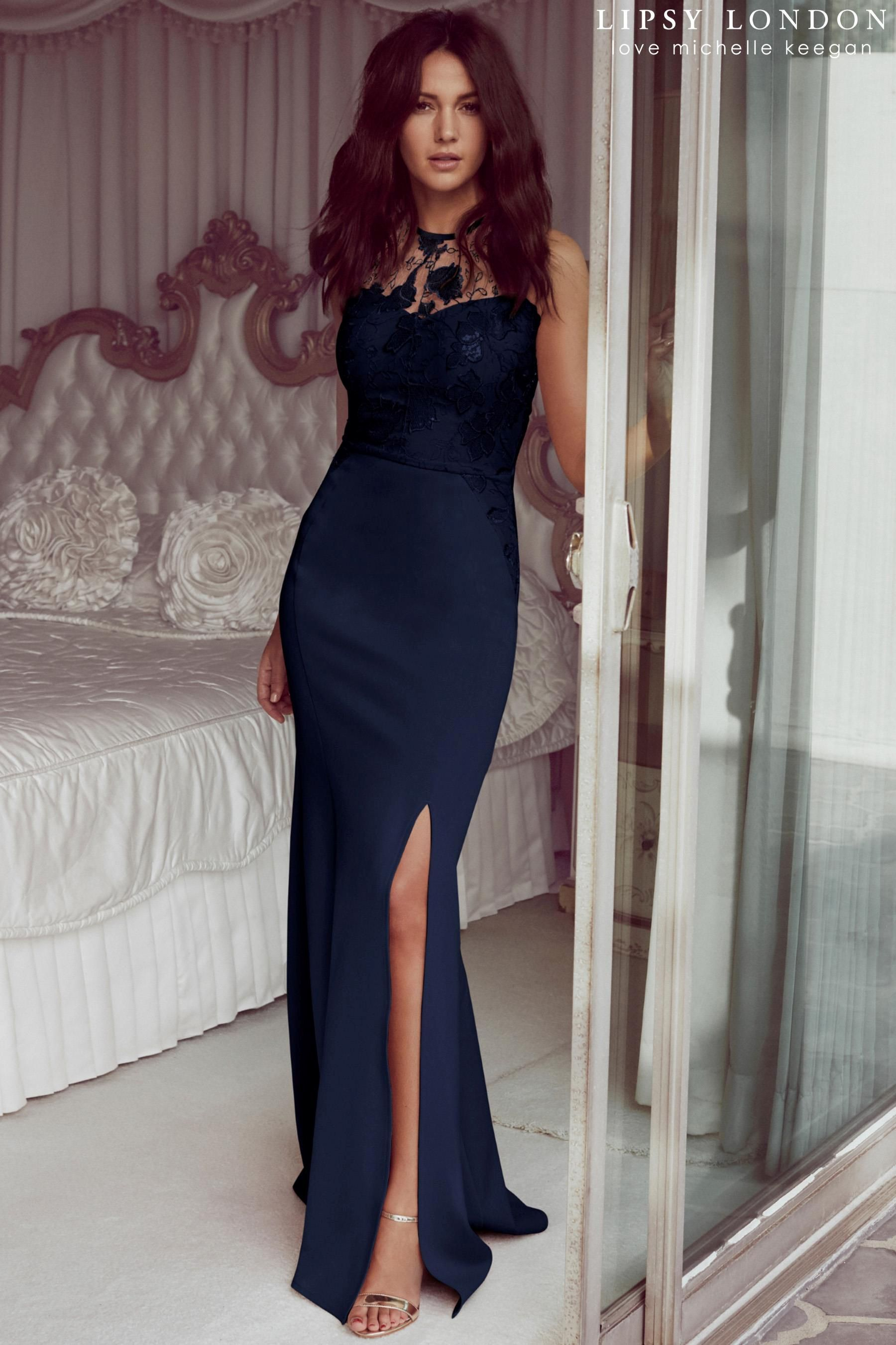 e8cb024c172654 Buy Lipsy Love Michelle Keegan Sequin Halter Maxi Dress from the Next UK  online shop