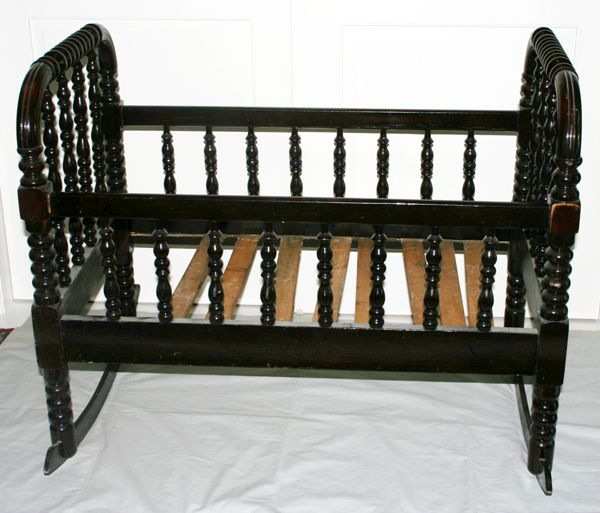 Antique Spindle Design Cradle H 31 L 38