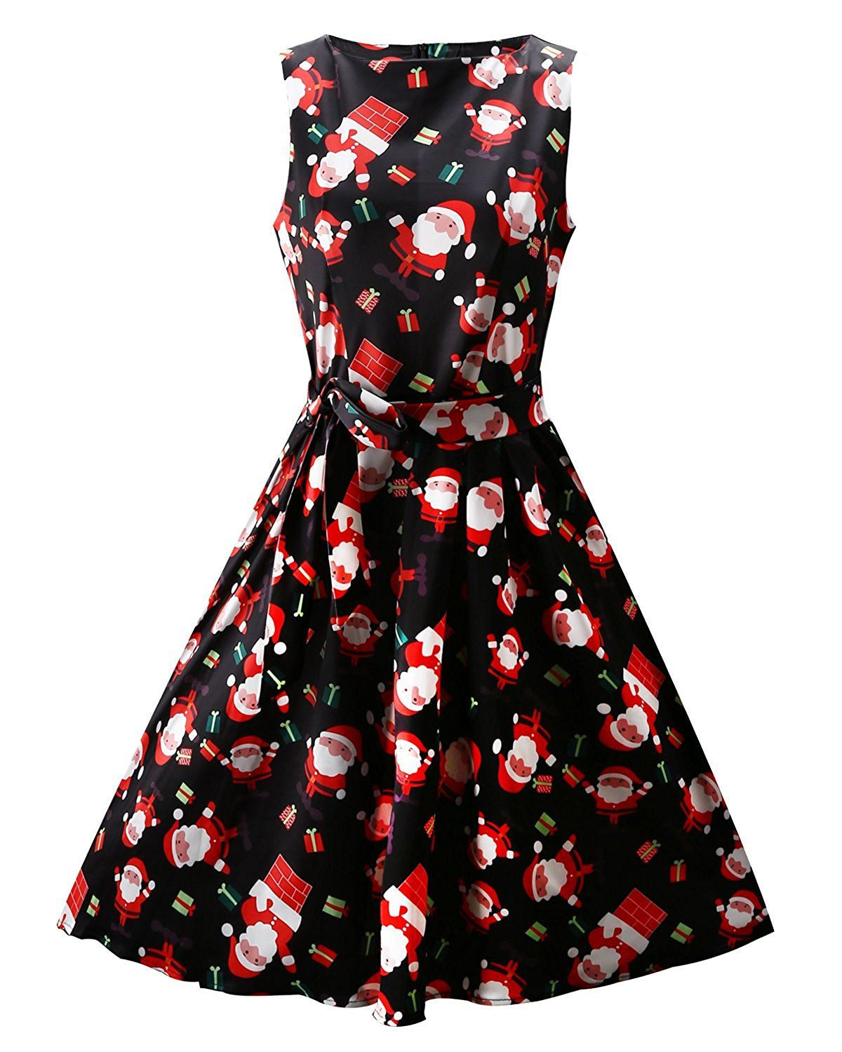 OUGES Women\'s Christmas Gifts Fit and Flare Cocktail Dress | Women\'s ...