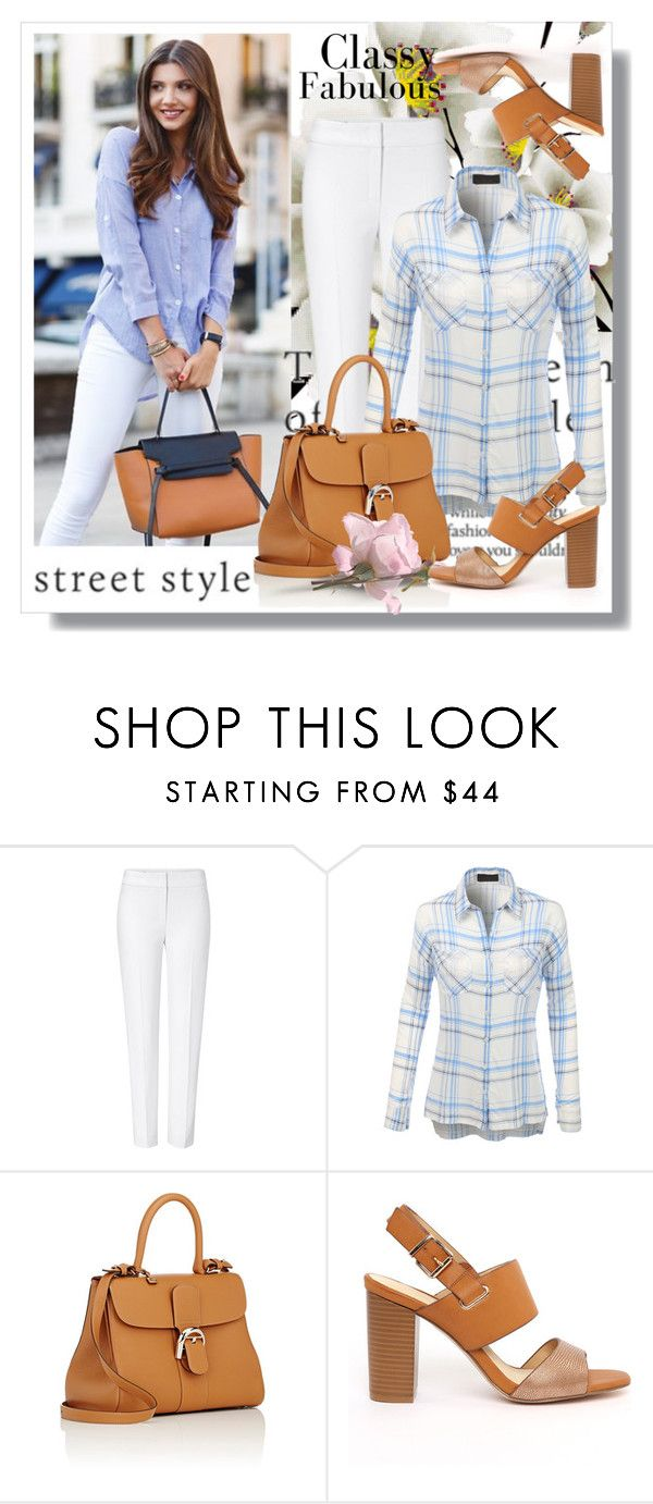"""""""Street style"""" by rosely25 ❤ liked on Polyvore featuring ESCADA, LE3NO and Delvaux"""