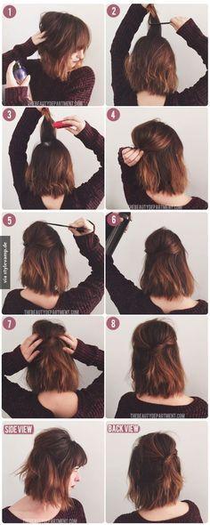Trendige Frisur Für Mittellanges Haar Flechten Haare Mittellange