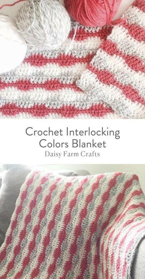 Free Crochet Pattern - Interlocking Colors Blanket | soon | Pinterest