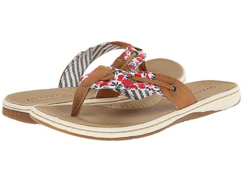37f6d64ba Stripe and floral print flip flops from Sperry Top-Sider.  sandals  shoes   summertime