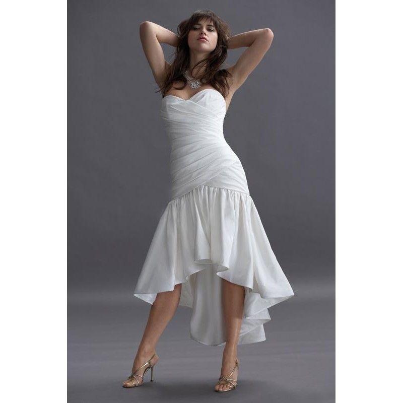Short bridal gown strapless casual beach wedding dress for Short casual beach wedding dresses