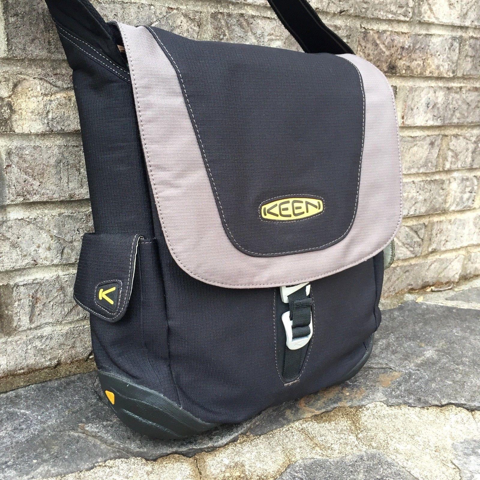 04a59593d26 Keen Messenger Bag Crossbody Black Gray Eco-Friendly Recycled Hybrid  Transport | eBay